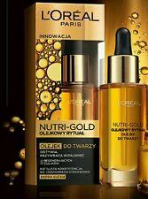 L'OREAL PARIS NUTRI GOLD Regenerating Face Oil For Dry Skin  30ml
