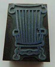 Vintage Printing Letterpress Printers Block Wood Chair
