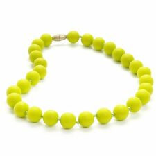 Chewbeads Jr. Bleecker Necklace Teething Jewelry Chartreuse