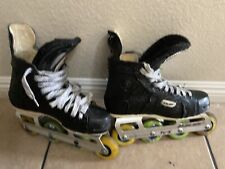 Bauer Pro Off Ice Hockey Painted Inline Roller Blades Skates Sz 9 Canada