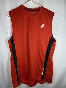 Men's Asics Orange Size Medium Shori Muscle Tank Top Shirt SPF