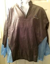 Mens DISNEYLAND World Jacket Resorts Windbreaker Coat Blue Gray Packable XXL/XL