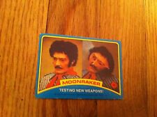 1979 Moonraker James Bond Trading Card #42 Testing New Weapons Movie Film Rare