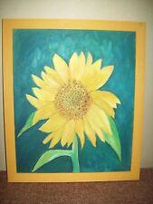 Sonnenblume Blumenstillleben Gemälde Ölgemälde auf Leinwand in Holz Rahmen