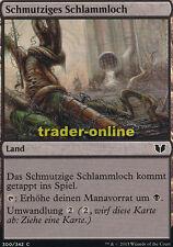 4x Schmutziges Schlammloch (Polluted Mire) Commander 2015 Magic