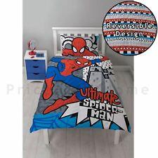 Spiderman Accrochage Set Housse de Couette Simple Réversible Literie Enfant