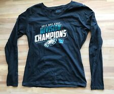 Philadelphia Eagles NFL Women s T Shirt 2017 NFC East Division Champions  Black 15f0de242