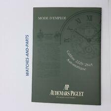 Audemars Piguet AP 2229/2845 Instruction Booklet 1997 GENUINE ORIGINAL