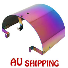 """2.5-3.5"""" UNIVERSAL CONE STAINLESS STEEL HEAT SHIELD AIR INTAKE FILTER COVER NEW"""