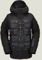$320 New Mens Volcom Small Militia 3 In 1 Snowboarding Jacket Ski Black Goretex