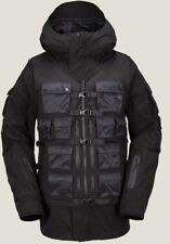 New Mens Volcom Militia 3 In 1 Snowboarding Jacket Ski Black Small Coat Goretex