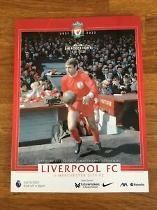 2021/22 Premiership Liverpool v Manchester City 3/10/21 Programme Sir Roger Hunt