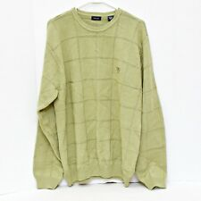 IZOD Sweater Mens Size Large Green Long Sleeve Pullover 100% Cotton