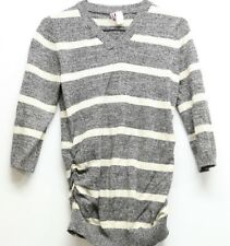 Women's Rumor Has It Maternity Striped Sweater 3/4 Sleeve Sz M 100% Cotton