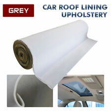1.5 x 2M Car Roof Lining Headliner Upholstery Foam Headlining Fabric Grey Gray