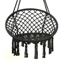 Huśtawka fotel bocianie gniazdo z oparciem czarna XL