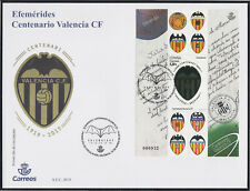 Spain 5299 2019 Ephemeris Centenary Of Valencia SPD Over First Day
