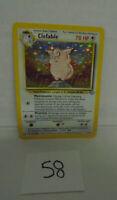 CLEFABLE Pokemon Card Clefable Jungle Holo Foil 1/64 listing # 58