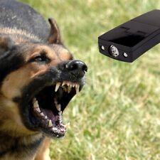 Electronic 3in1 Dog Chaser Ultrasonic Repeller Trainer & LED Flashlight w/Strobe