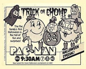 PAC MAN Trick Or Chomp Halloween Special 8x10 Print From 1982 ABC Television Ad
