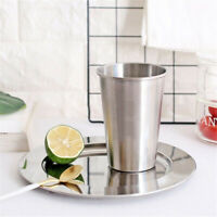 Cup Stainless Steel Tumbler Pint Glasses Metal Cold Cups Kitchen Drinking Mug WE
