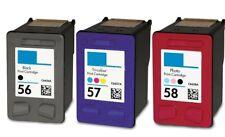 3PK Ink Cartridges for HP 56 57 58 C6656AN C6657AN C6658AN