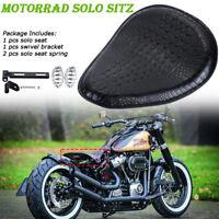 Motorrad Schwarz Solo Sitz Schwingsattel + Sitzfedern Halter für Harley Yamaha