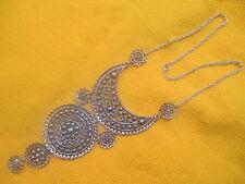 Moroccan Berber Jewelry: Stylish Half-Moon Silver colour Filigree NEW
