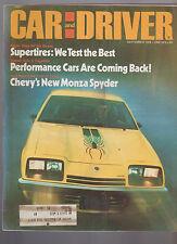 Car and Driver September 1976 Monza Spyder Berlinetta Lotus Sprint