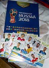 PANINI FIFA WORLD CUP RUSSIA 2018 STICKER ALBUM WITH 42 DIFFERENT STICKERS