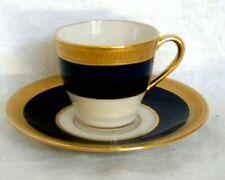Lenox China J19K Cobalt Blue & Gold Encrusted Demitasse Espresso Cup Saucer