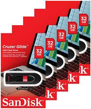 5 Pack of SanDisk 32GB Cruzer Glide USB 2.0 Flash Pen Drive SDCZ60-032G Retail
