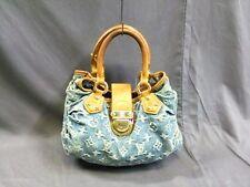 Authentic LOUIS VUITTON Monogram Denim Pleaty M95020 Blue Handbag VI0035