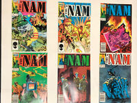 Lot of 29 Marvel Comics 1986 THE NAM 1-10 12 12-17 20-26 29-35 All Bagged NM.
