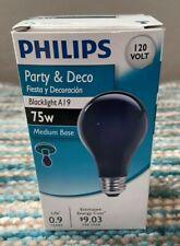 New Black Light Blacklight Lightbulbs Party & Deco 60 and 75 watt (1 bulb)