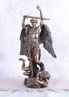 Figur Engel Michael & Dämon Kirchenfigur sakrale Skulptur Erzengel Heiligenfigur