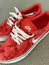 Nike SB Skateboarding Women's Trainers White Red Shoes Size 5