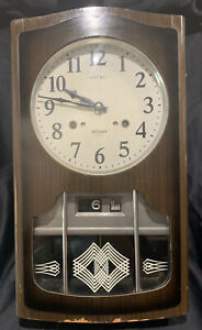Vintage Retro Mid Century Seiko 30 day Wall clock Perfect working