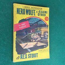 Rex STOUT - NERO WOLFE E I RAGNI D'ORO Gialli Mondadori n.300 (1° Ed 1954)Giallo