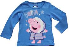 Peppa Wutz Langarm Mädchen-T-Shirts & -Tops mit Rundhals-Ausschnitt