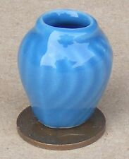 1:12 Scale Blue Ceramic Vase 2.5cm Tumdee Dolls House Ornament Accessory B17