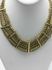 LUCKY BRAND JEWELRY JLRY4142 Gold-Tone Quartz Bib Necklace $89 LK8a