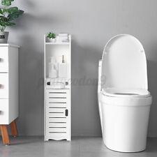 "31"" Bathroom Floor Cabinet Storage Freestanding Organizer Toilet Paper Holder US"