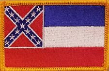 Mississippi  Flag Patch W/ VELCRO® Brand Fastener Tactical Military Gold #7