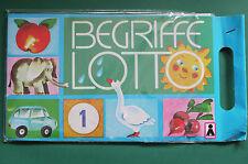 Begriffelotto DDR OVP Plasticart Spiel Spielzeug Vorschule Lotto Brettspiel