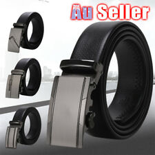Leisure Business Fashion Automatic Ratchet Strap Belts Leather Mens Buckle Waist