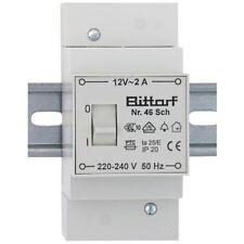 AP Klingeltrafo, auch für Reiheneinbau, mit Schalter, primär 220-240V, sekundär