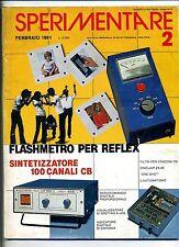 SPERIMENTARE # N.2 Febbraio 1981 # Rivista Mensile Elettronica Elettrotecnica