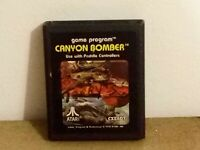 Atari 2600 Picture Label Canyon Bomber Atari Corp Tested Working Original 1978