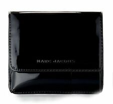 Marc Jacobs Black Patent Leather Makeup Bag Cosmetic hard Case Pouch clutch new